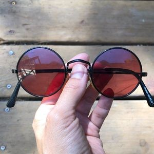 Vintage 70s rose colored glasses